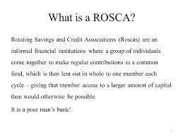 what is a rosca